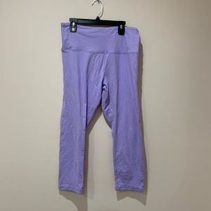 Forever 21 Lilac Cropped Leggings Size L
